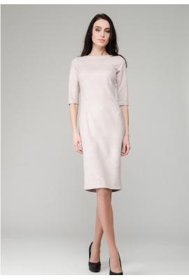 Бежева сукня із замші