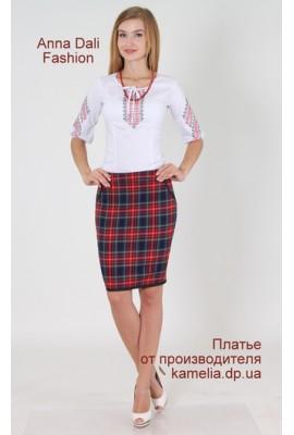 А 223 Спідниця Україна червона клітинка