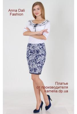 А 223 Спідниця Україна синьо-біла трояндочка