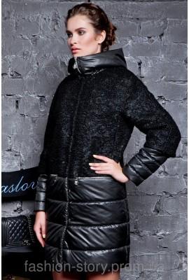 Стильне жіноче пальто Raslov з капюшоном, модель 236