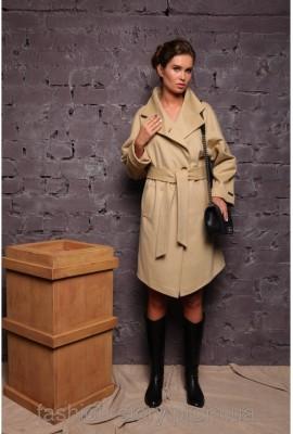 Стильне жіноче пальто Raslov (арт.208) бежеве