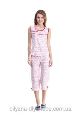 Комплект Майка+Бріджі 0107/108 «рожеві сердечки»
