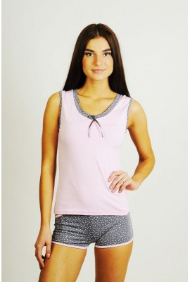 Піжама Майка+Шорти 0125/126 рожевий