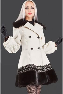 Кашемірове пальто з хутром