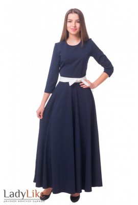 Синя довга сукня