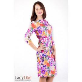 Сукня трикотажна в яскраві квіти