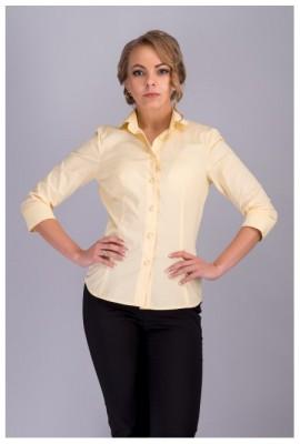 00511 Сорочка жіноча світло-жовта