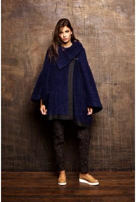 Пончо-пальто Вероніка синє