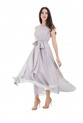 Сукня шовкова в підлогу геометричний принт 1412-044-5