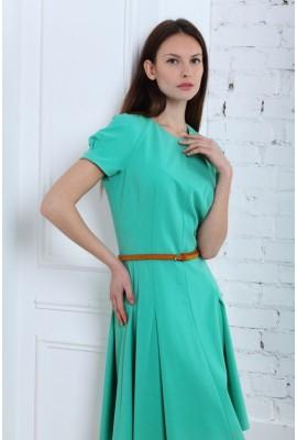 Сукня приталена міді 1406-030 бірюзова