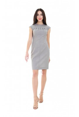 Сукня прилеглого силуету сіра 1402-005