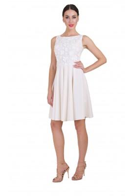 Сукня міді білі квіточки 1403-010-3