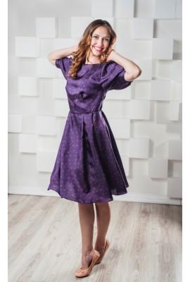 Сукня шовкова міді фіолетова 1405-021-2