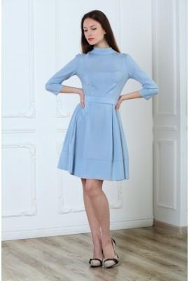 Сукня вовняна блакитна 1401-001-2