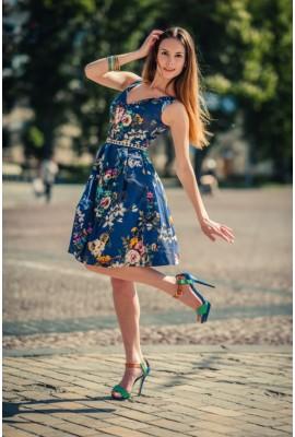 Сукня бавовняна з широкою спідницею 1404-012-0