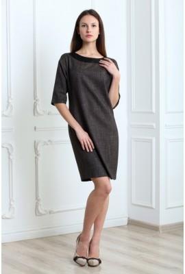 Сукня зі шкіряною обробкою 1410-037-1