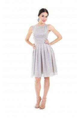 Сукня шовкова міді геометричний принт 1406-028-0