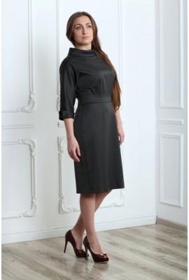 Сукня вовняна з суцільнокроєним рукавом 033-2