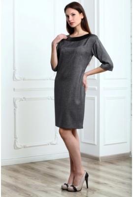Сукня зі шкіряною обробкою 1410-037-2