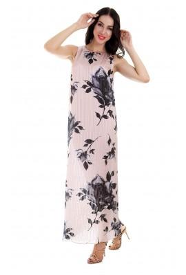 Сукня шовкова в підлогу квітковий принт 1506-056 д