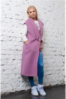 Пальто Omnia vincit amor рожеве