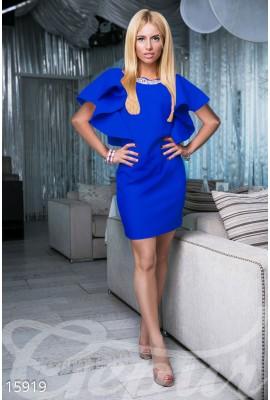 Сукня з воланами міні синя