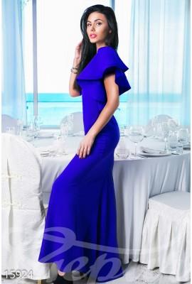 Сукня з воланами синя
