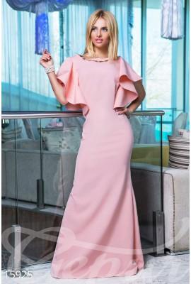 Сукня з воланами персикова