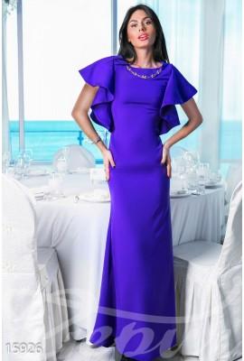Сукня з воланами фіолетова