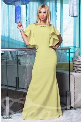 Сукня з воланами жовта