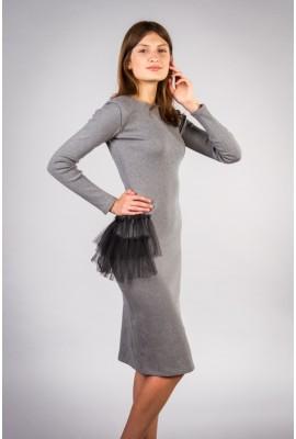 Сукня сіра 027