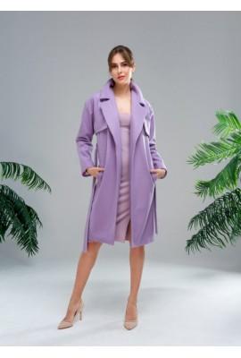 Кашемірове пальто лавандового кольору
