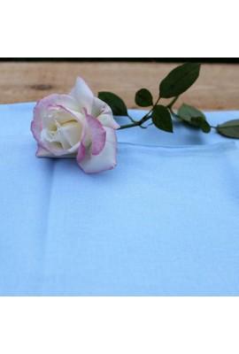 Комплект натуральної постільної білизни блакитний