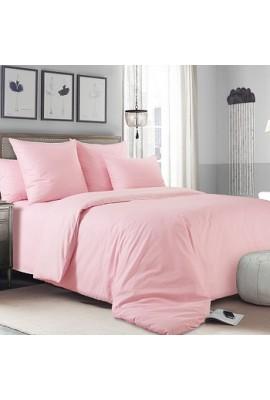 Комплект натуральної постільної білизни рожевий