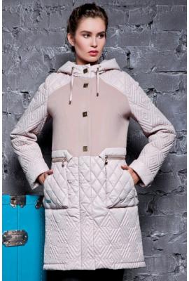 Пальто зимове з кашеміру та плащової тканини бежеве