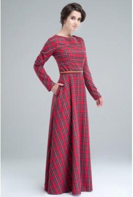 Довга тепла сукня